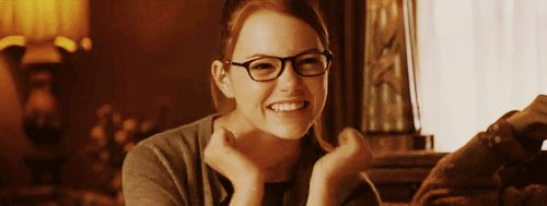 Emma Stone, glasses, cute, gif,