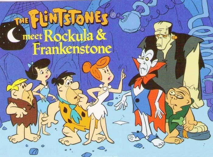 the flintstones meet rockula frankenstone flintstones and the spin offs pinterest hanna barbera - Halloween Flintstones