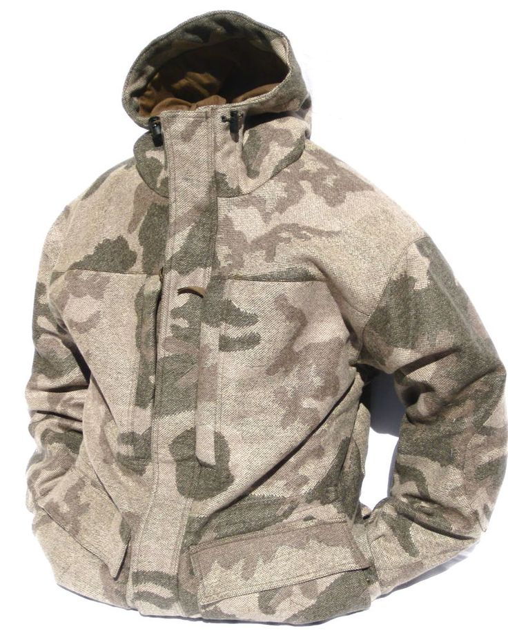 Cabela's Outfitter's Wool Parka Windshear Dry-Plus Hunting Outfitter Camo-Brown #Cabelas