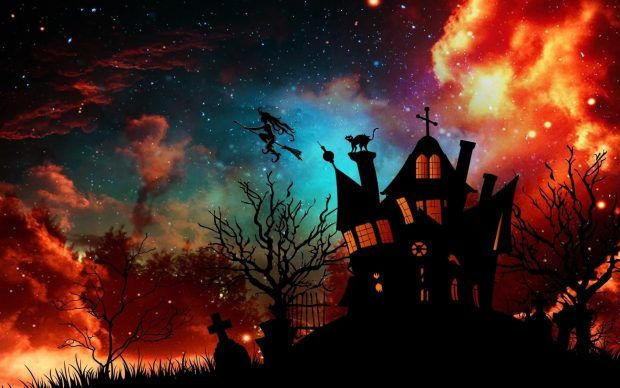 Halloween Wallpaper For Pc Haunted House Halloween Party Halloween Wallpaper Halloween Images