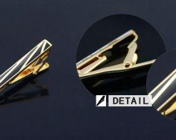 Luxusná kravatová spona značky JASON & VOGUE v čierno-zlatej úprave