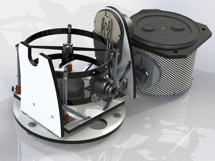 Dobson T300 f/D=5 GoTo configuré pour le transport.