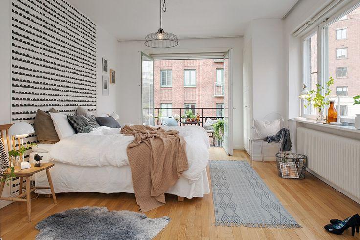 Behang achter je bed