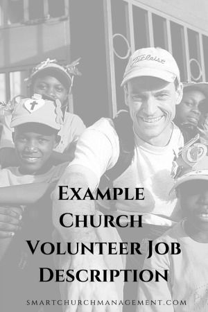 volunteering job description