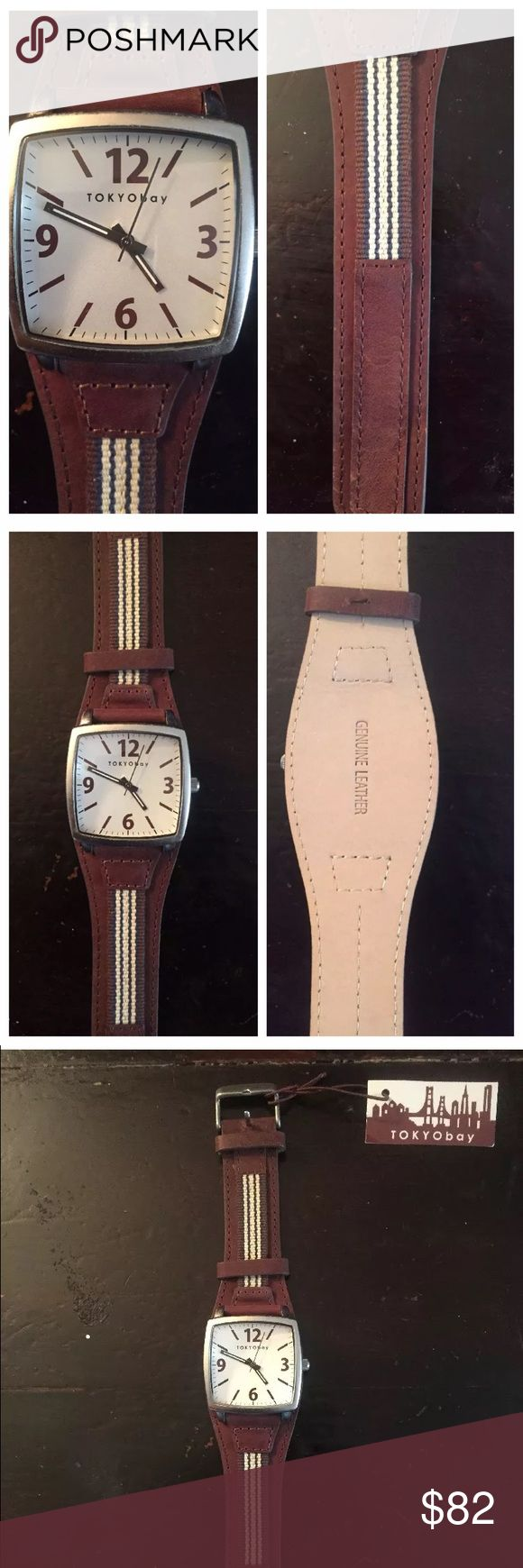NWT Tokyo Bay Men's Watch. Quartz (battery) Men's watch by Tokyo Bay. Brand new with tags. Just needs a new battery. Tokyo Bay Accessories Watches