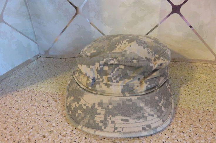 U.S. Military Issue Army Combat Uniform ACU Camouflage Patrol Cap Hat Size 6 7/8