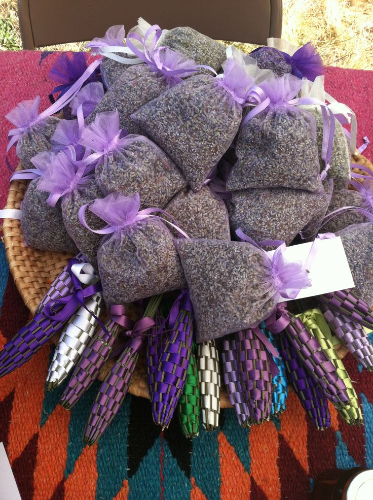 Dream sachets and lavender wands