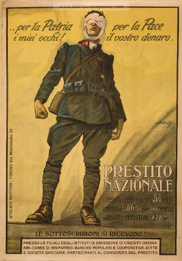 Examples of Propaganda from WW1 | Italian WW1 Propaganda Posters Page 5