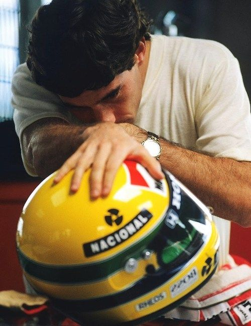 The most iconic helmet in motor sports. #senna