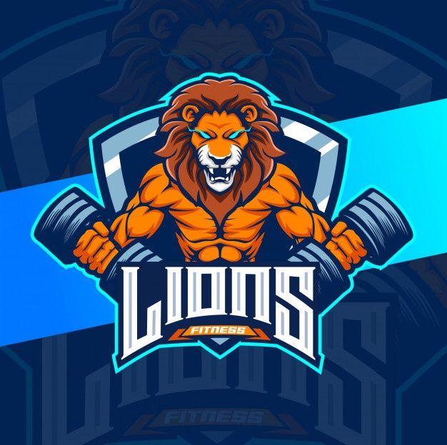Lion Fitness Bodybuilder Mascot Logo Des Premium Vector Freepik Vector Logo Lion Game Online Mascot Design Logo Design Mascot