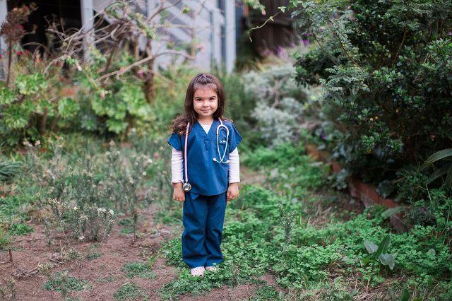 Kids Doctor Costume - mini scrubs are the cutest!