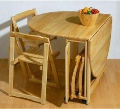 mesas de comedor plegables extensibles
