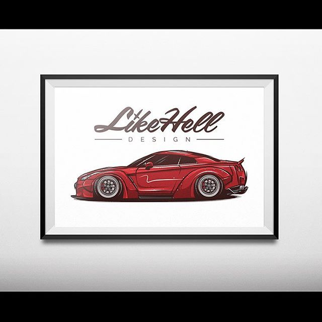 """18""""x 12"""" artwork prints available over the online store  www.likehell.bigcartel.com (link in bio) £12 each or two for £20  #likehelldesign #likehell #design #tocreateandinspire #art #graphics #graphicdesign #illustration #drawing #vector #automotiveapparel #automotiveart #gtr #skyline #r35 #libertywalk #rotiform"""