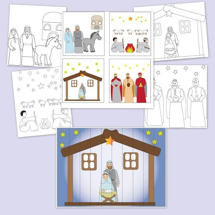 Letölthető, nyomtatható játékok, feladatlapok ovisoknak a betlehemi történettel kapcsolatban.