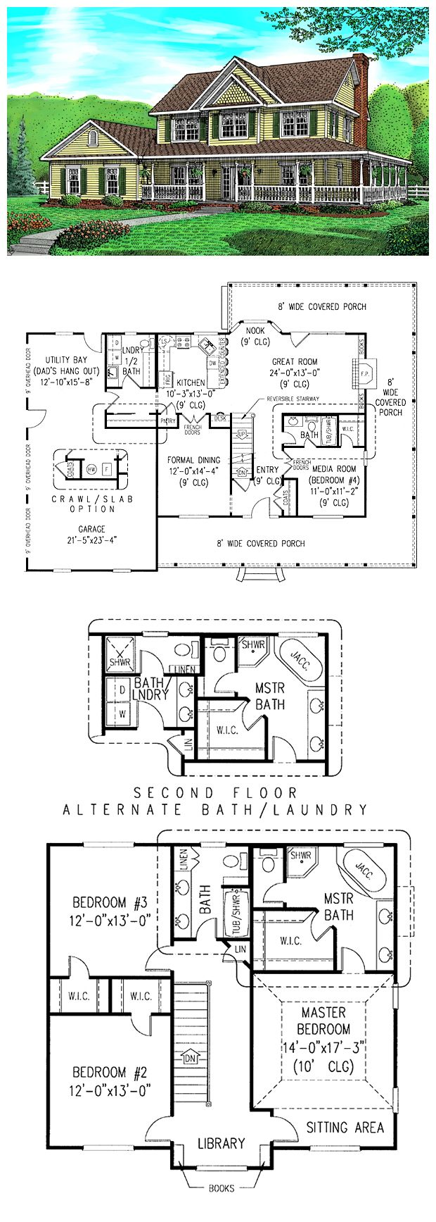 133 best floor plans images on pinterest architecture facades country farmhouse house plan 96815