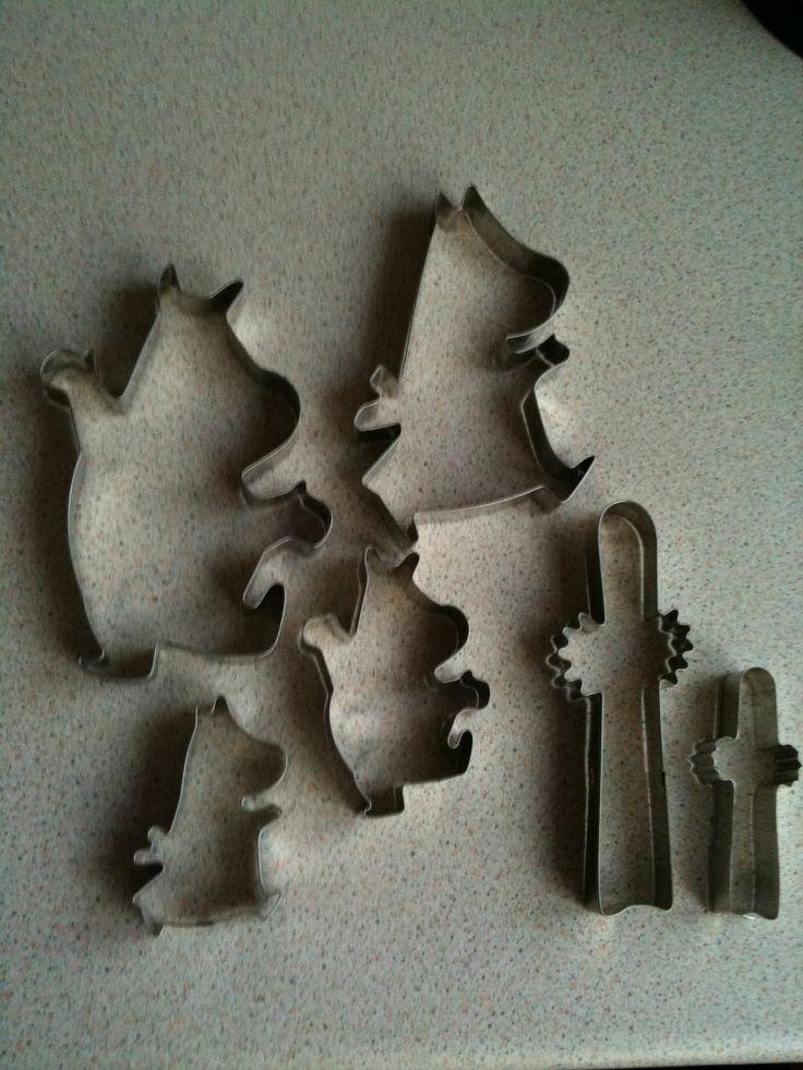 Moomin cookie cutters