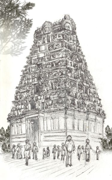 Gopuram Ancient Drawings