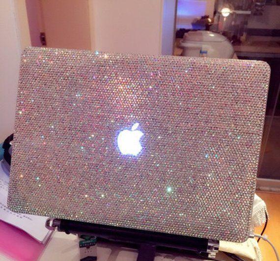 official photos 3b04e 60a0d Laptop Case Rhinestones Macbook case Handmade Crystal AB Bling Case ...