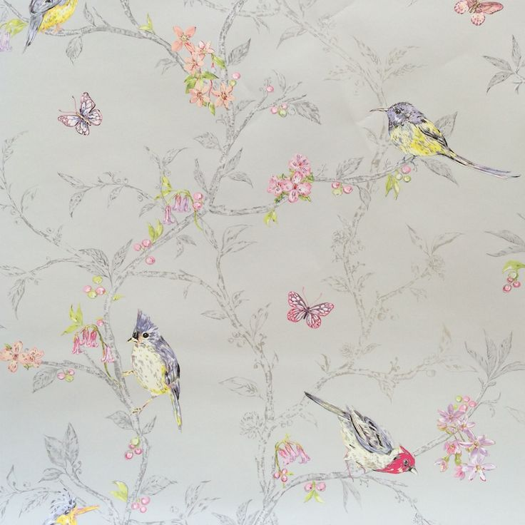 A fabulous bird and branch statement wallpaper from Holden decor.