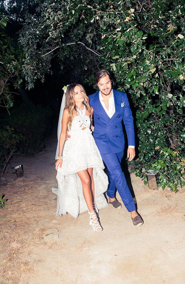 Casamento na praia- Destination wedding em Capri Itália - Vestido de noiva mullet de Erica Pelosini ( Vestido de noiva: Peter Dundas | Foto: The Coveteur )