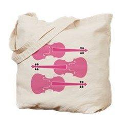 Viola Player Pink Music Tote Bag