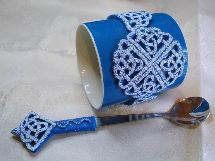https://flic.kr/p/CqscDy | Celtic Blue - mug and spoon