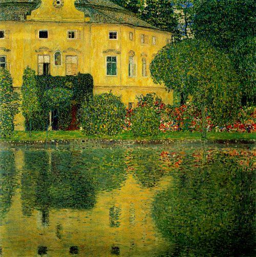 아테제 호수의 캄머성, 구스타프 클림트, 1910