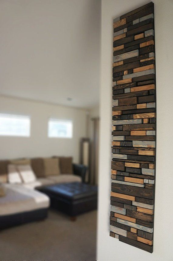 Modern Reclaimed Wood Wall Art Holz