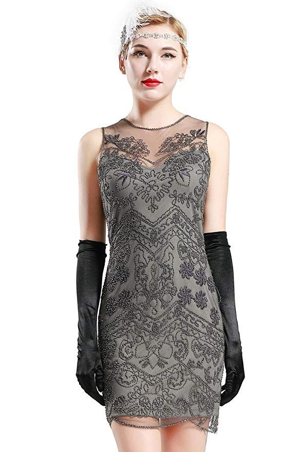 65eff5935e8b5 BABEYOND 1920s Flapper Dress Roaring 20s Great Gatsby Clothing Dress ...