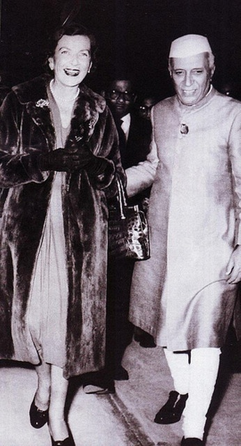 Edwina Mountbatten, Countess Mountbatten of Burma with Jawaharlal Nehru, first Prime Minister of India