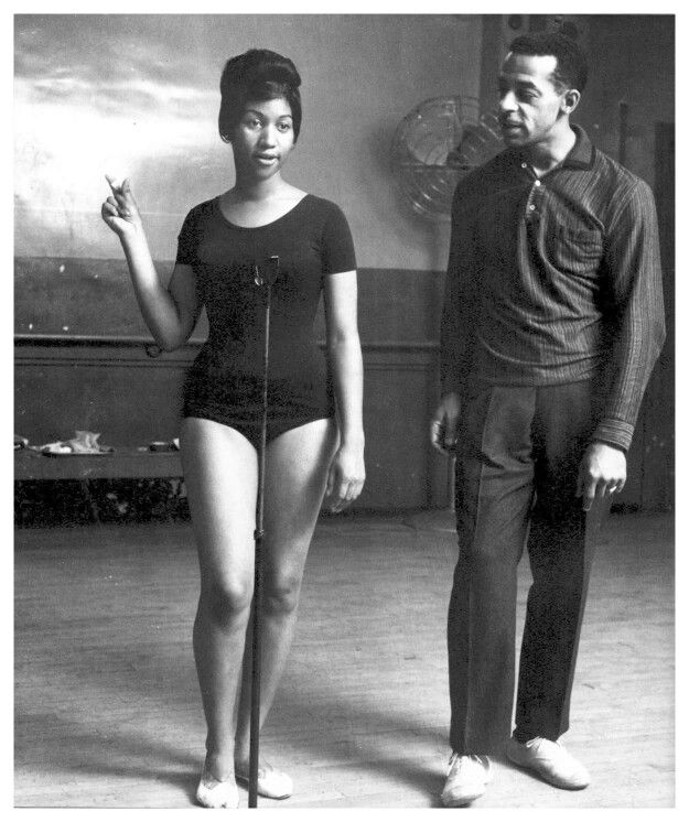 Teenager Aretha Franklin as a new artist at Motown Records