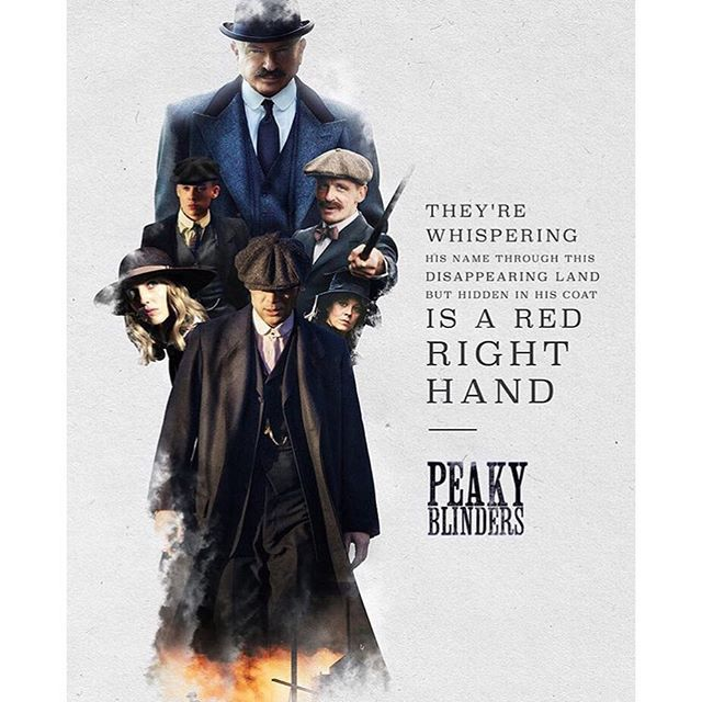 More amazing creations by talented fans! This one is by @vcasellas Peaky Blinders -- creative posters