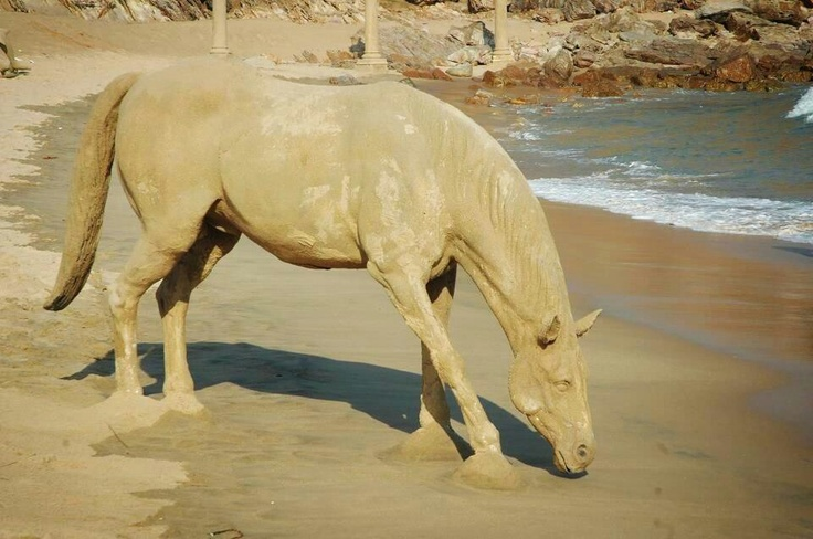 Horse sand sculpture from Kate G