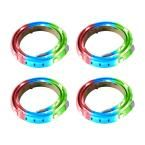 BAZZ RGB LED Tape Light (4-Pack), White