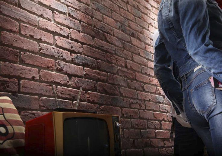 144 best fauxbrick walls images on pinterest - Textured brick wall panels ...
