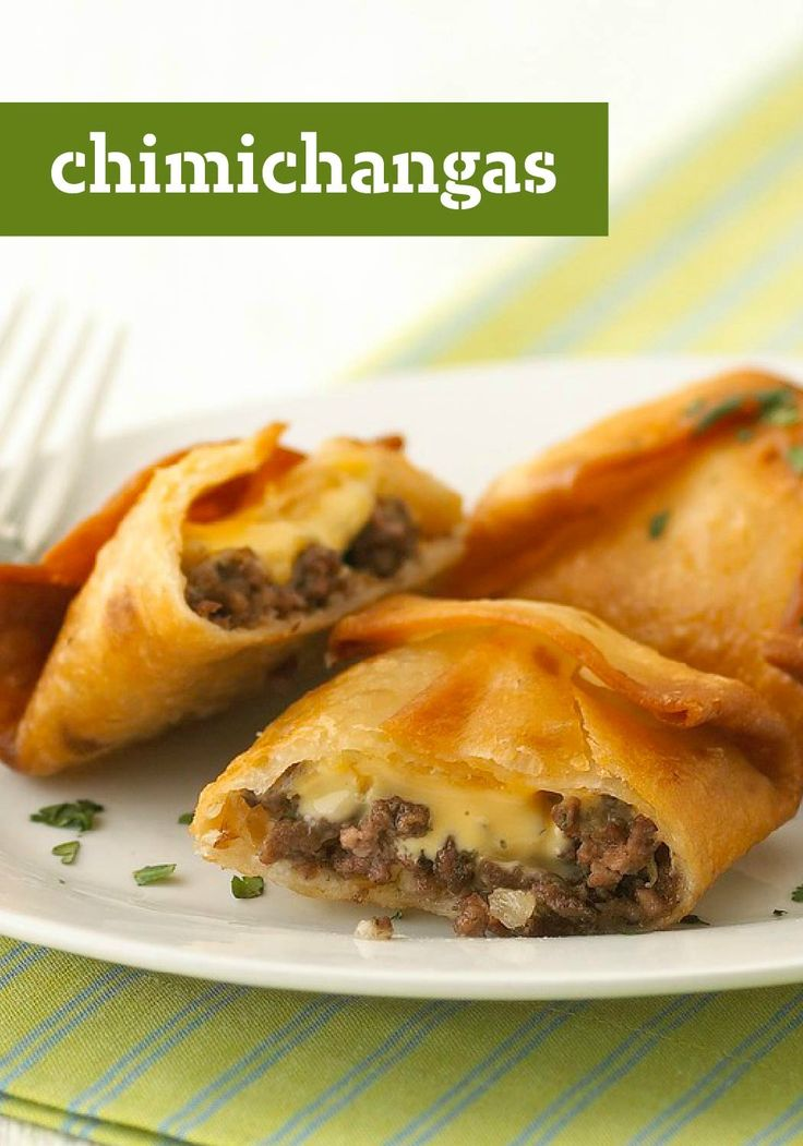 Chimichangas – Looking for some Mexican-inspired dinner fare? Check out this crispy main dish that's easy, cheesy, and better than your abuela's. Just don't tell her we said that.