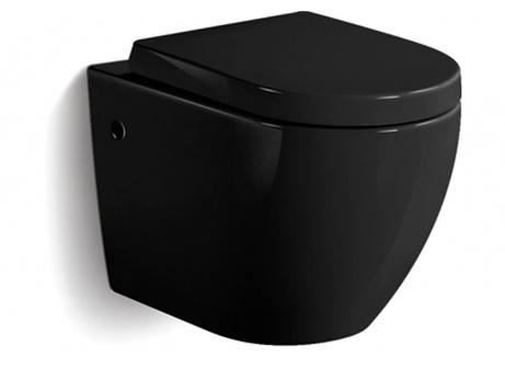 Wand WC Keramik Netto - Schwarz (inkl. Deckel & Soft Close Absenkautomatik)  169 € + 47€ Versandkosten