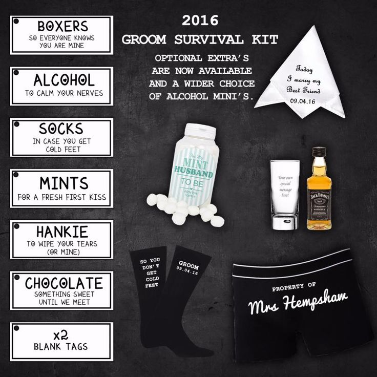 The Real Unique Personalised Groom Survival Kit