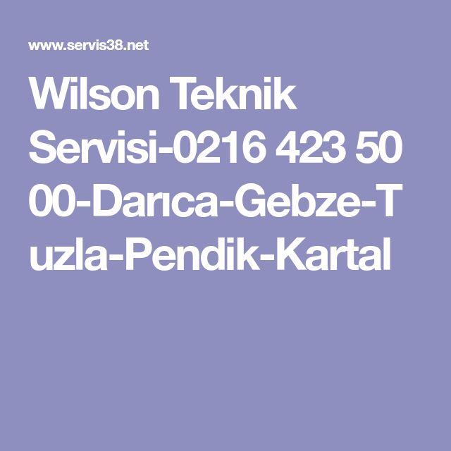 Wilson Teknik Servisi-0216 423 50 00-Darıca-Gebze-Tuzla-Pendik-Kartal