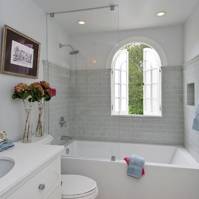 25 best ideas about shower bath combo on pinterest for How deep is a normal bathtub