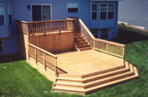 8' x 16 Upper Deck w/ 16' x 16' Main Deck - Building Plans only Architectural Landscape Design