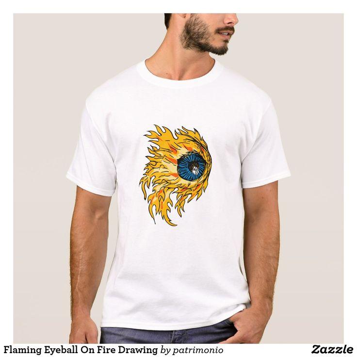 Flaming Eyeball On Fire Drawing #eyeball #drawing #illustration