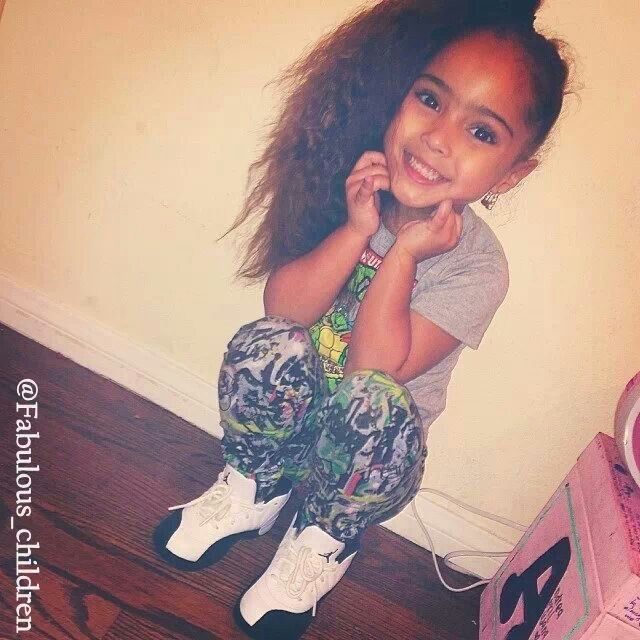 Popinxxx babies pinterest her hair sweet and hair - Mixed girl swag ...