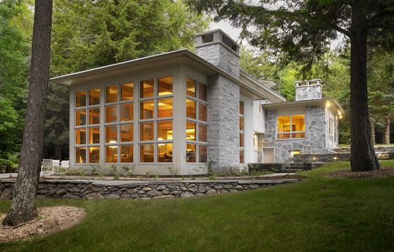 Restored American International Style Residence by the Cushman Design Group.