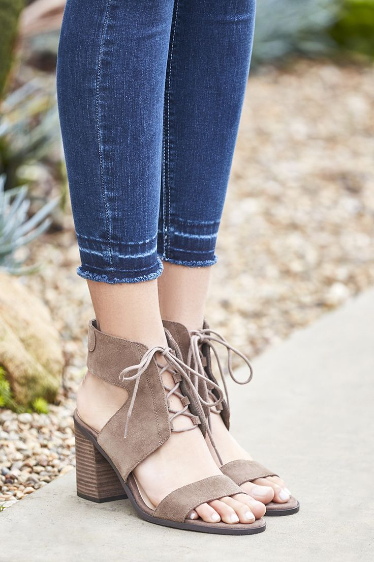 Lace-up block heel sandals   Sole Society Auburn