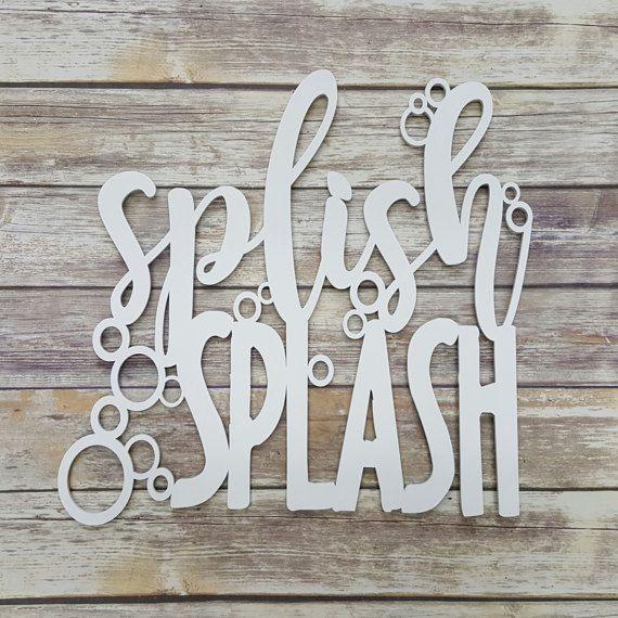 Splish Splash  Bathroom Sign  Bathroom Decor by NeedmoreHeart