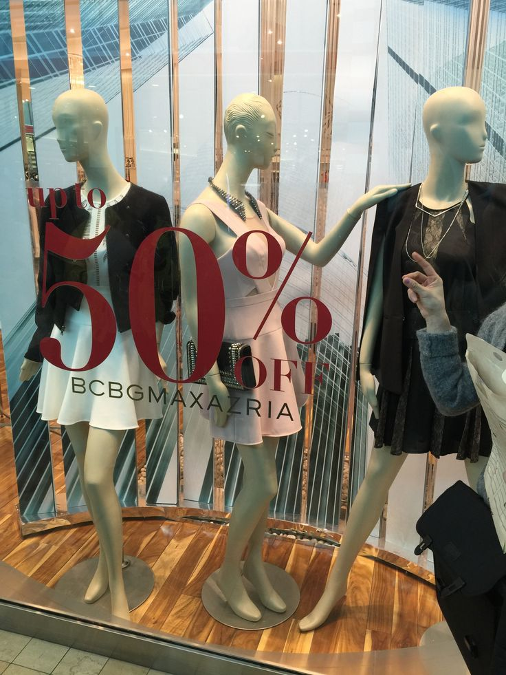 Store front window. We can see the theme of the brand and store from the front window. And new arrived or discount information will display at front window. let people being clear at a glance.
