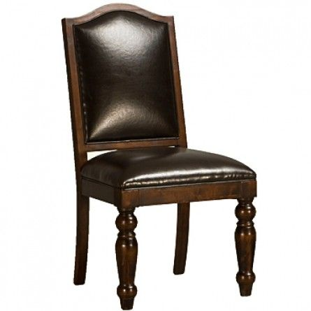 Home Trends And Design Seville Leather Dining Chair Dining Chairs Dining Gallery Furniture