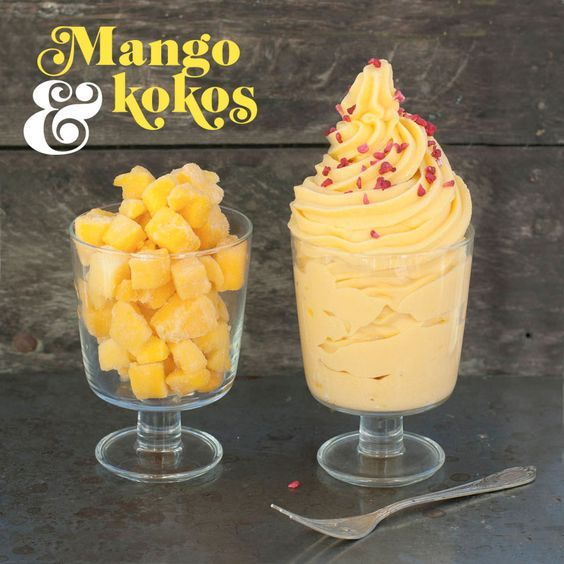 Bjud på en läskande mangodessert med bara två ingredienser!