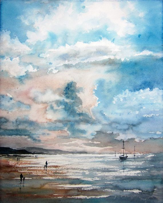 Byron Bay  Original Watercolour Painting  50.0cm H by AustraliaArt